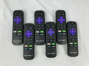 Lot Of 6 Genuine Tcl Roku Tv Remote Controls With Netflix Hulu Sling Now