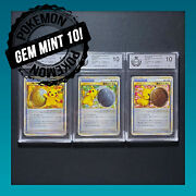 Pokemon Japanese 2009 Victory Medal Gym Challenge 1 2 And 3 Place Gem Mint 10