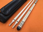 Longoni Carom Cue Armonia Light With S30 E71 Shafts And Case Wood Joint .