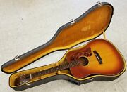 1973-75 Gibson J-45 Deluxe Cherry Sunburst Usa Acoustic Guitar And Case