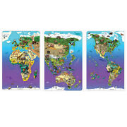 Dowling Magnets Wildlife Map Puzzle Bundle Set Of 3