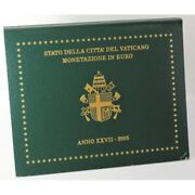 2005 Vatican City Series Divisional In Euro Year Xxvii 8 Coins Fdc Mf6