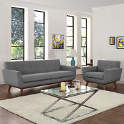 Modway Engage Mid-century Modern Upholstered Fabric Sofa And Armchair Set