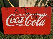 1930s Double Sided Porcelain Coca Cola Sign