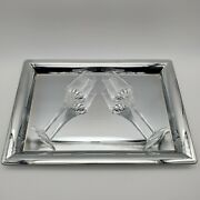 2 Remy Martin Louis Xiii Christophe Pillet Crystal Glasses 3 Oz W/serving Tray