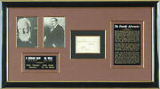 George Bernard Shaw - Autograph 01/20/1936 Co-signed By H. G. Wells