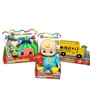 Cocomelon Musical Jj Doll, Musical School Bus And Musical Doctor Set Toy Bundle