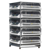 New Gqf 0705 Five Stacked Grow Off Poultry Chicken Chicks Birds Battery Pen