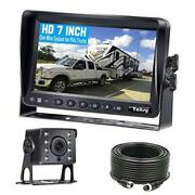 Y14 Hd Diy One Wire System Backup Camera 7 Inch Monitor Kit For