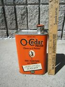 Antique 1936 O-cedar Corp Chicago Polish For Fine Furniture And Floors Tin Can