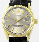 Vintage Rolex Oyster Perpetual Date Gold Capped 15505 Mens Wrist Watch 1982