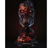 Pure Arts 906839 Terminator 2 Judgement Day Andndash T800 Battle Damaged Art Mask Toy
