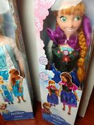 Disney Frozen Elsa + Anna 3 Ft Doll My Size With Box. Opened / Preloved.