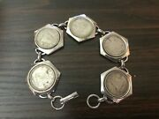 Handmade Coin Bracelet With 5 10 Cent Canadian Silver Dated Coins