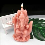 3d Elephant Buddha Silicone Candle Mold Soap Resin Wax Crafts Hand Ganesha Mould