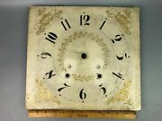 Hand Painted Antique Wooden Painted Clock Face Pillar And Scroll