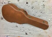1950and039s Gibson J-200 Acoustic Guitar Case Brown-pink Circa 1958 Vintage 17.5