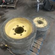 Hyster S135xl S155xl Complete Set Of Rims/tires 28x12x22 22x8x16
