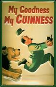 Guinness Lion Tin Sign Shield 3d Embossed Arched 7 7/8x11 13/16in
