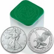 2021 1 Oz Silver American Eagle Coin Roll Of 20 Type 2 - Presale
