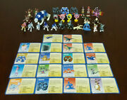 1999 Monster Rancher Mini Figure Lot - Playmates - 27 Figs 18 Cards- Some Rares