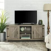 Manor Park Modern Farmhouse Barn Door Tv Stand For Tvs Up To 64 - Gray Wash