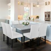 4pcs Dining Chairs High Back Pu Leather Chair With Wood Legs For Kitchen