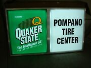 Quaker State Illuminated Motor Oil Sign 64x36x7 Indoor Or Outdoor New In Box