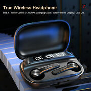Earbuds True Wireless Headphones Touch Control 1200mah Charging Box With Mic Usb