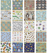 Ambesonne Cartoons Microfiber Fabric By The Yard For Arts And Crafts