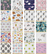 Ambesonne Cartoon Design Microfiber Fabric By The Yard For Arts And Crafts
