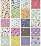 Ambesonne Cartoons Form Microfiber Fabric By The Yard For Arts And Crafts