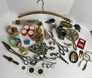 Junk Drawer Lot Coins Watches Indian Brass Pewter Timex Holy Land Silver Plate