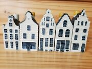 Blue Delft Klm Decanter Miniature Canal Houses By Bols Lot 10 15 19 32 36