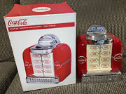 Coca Cola Brand Tabletop Juke Box Cookie Jar By Gibson Vintage With Box