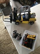 Lego Technic Motorized Forklift Without Building Instructions And Spare Parts