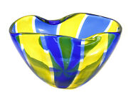 Archimede Seguso Murano For And Co. Art Glass Bowl Signed.