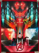 The Avengers Poster Mondo Numbered Limited 70 Iron Man Hulk Thor.....