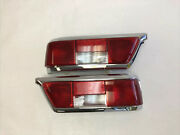 Pair Of Red Late Style Tail Lights Fits Mercedes W111 280se 3.5 Coupe Cabriolet