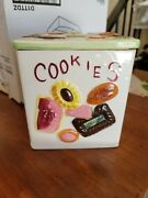 Cookies All Over By Fred Roberts Co. Napco Japan. Cookie Jar With Lid.