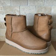 Ugg X Ovadia Classic Mini Chestnut Leather Zip Ankle Boots Size Us 11 Men
