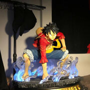 One Piece Monkey D Luffy Resin Model 1/2 Scale Painted Led Light Mini In Stock