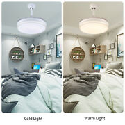 White 42andrdquo Crystal Invisible Ceiling Fan Led Light 3 Speed Setting Remote Control