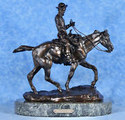 C.m. Russell 12 Cast Bronze Will Rogers Statue Sculpture Detailed Repro Minty