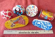 Lot Of 6 Noise Makers Party Vintage Us Metal Toy Mfg Woman Schering Kirchhof ++