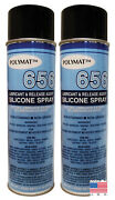 Qty 2 Polymat 656 Silicone Spray Lubricant For Door Windows Hinges Non Greasy