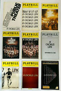 A Chorus Line From Public Theatre Revival Rare 43 Year Nine Playbill Collection