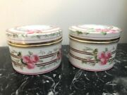 Set Of 19thc. Rare Minton Porcelain Trinket Boxes Gilded With Roses