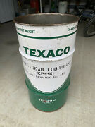 Vintage Texaco 16 Gal. Oil Grease Drum -mancave Trash Can - Gas And Oil Petroliana