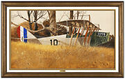 Ray Swanson Original Gouache Painting On Board Signed Airplane Illustration Art